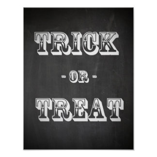 Trick or Treat Chalkboard Poster