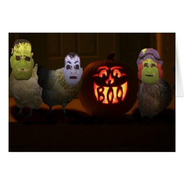 cdmdvm Trick or Treat Chickens Card