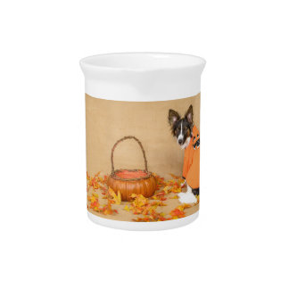 Trick or Treat Chihuahua Dog Drink Pitcher