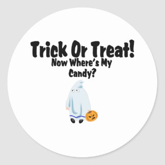 Trick Or Treat! Classic Round Sticker