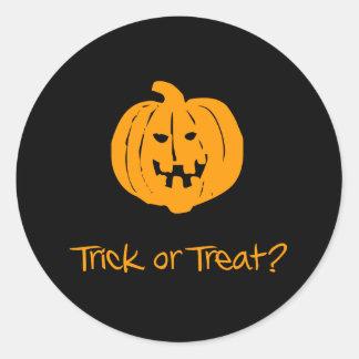 Trick or Treat? Classic Round Sticker