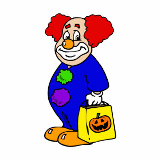 Trick or Treat Clown Photo Cut Outs