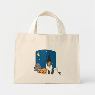 Trick or Treat Collie Halloween Canvas Bag