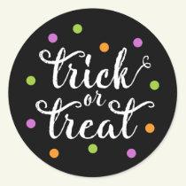 Trick or Treat Confetti   Halloween Stickers
