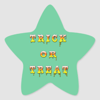 Trick or Treat (corn candy color) Star Sticker