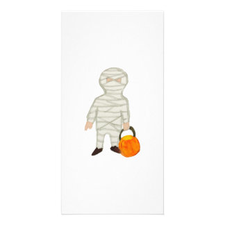 Trick or Treat Cute Halloween Toddler Mummy Zombie Photo Card