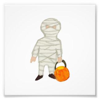 Trick or Treat Cute Halloween Toddler Mummy Zombie Photo Print