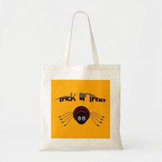 Trick or treat cute spider tote bag