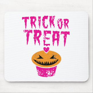 Trick or Treat distressed version with cupcake Mouse Pad