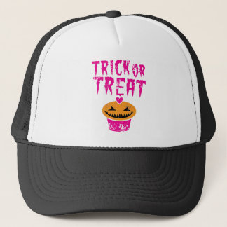 Trick or Treat distressed version with cupcake Trucker Hat