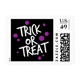 TRICK OR TREAT DOTS | HALLOWEEN POST STAMP