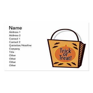 Trick Or Treat Double-Sided Standard Business Cards (Pack Of 100)
