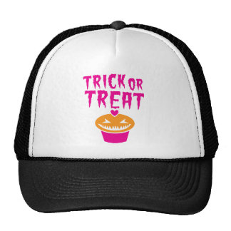 TRICK OR TREAT evil CUPCAKE for HALLOWEEN Trucker Hat