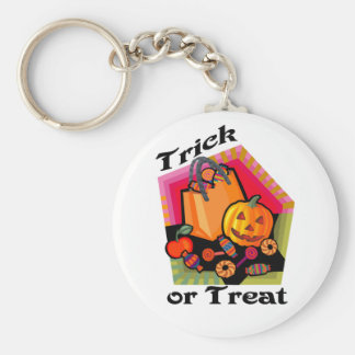 Trick or Treat Family Friendly Pumpkin & Candy Keychain