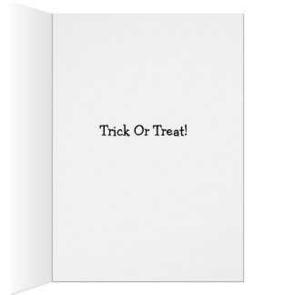 Trick or Treat Feet Card