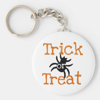 Trick or Treat for Halloween Parties Basic Round Button Keychain
