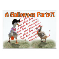 Trick or Treat for Pirate Duck & Lil Devil 5x7 Paper Invitation Card