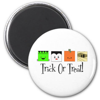 Trick Or Treat Four Squares Magnet
