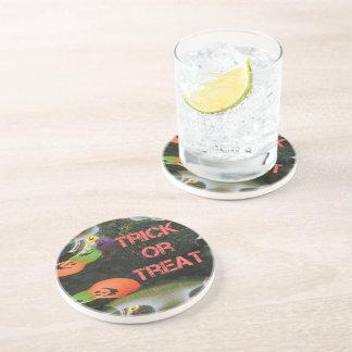 Trick or Treat Fractal Traced Pumpkins Coaster