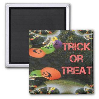 Trick or Treat Fractal Traced Pumpkins Magnet