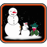 Trick or Treat From the Halloween Snowmen Cut Out
