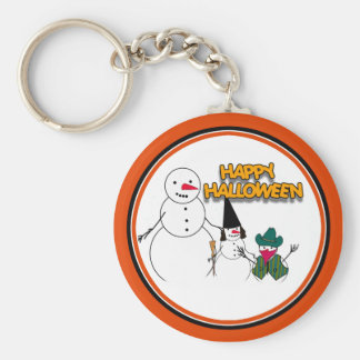 Trick or Treat From the Halloween Snowmen Key Chain