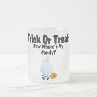 Trick Or Treat! Frosted Glass Coffee Mug