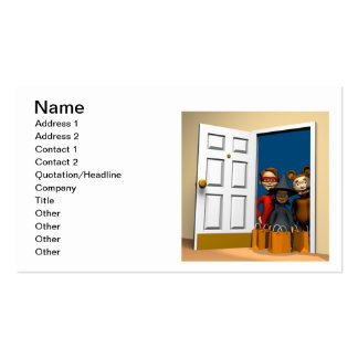 Trick Or Treat Ghost Double-Sided Standard Business Cards (Pack Of 100)
