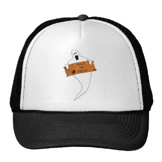 Trick or Treat Ghost Halloween Drawing Mesh Hats