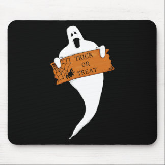 Trick or Treat Ghost Halloween Drawing Mouse Pad