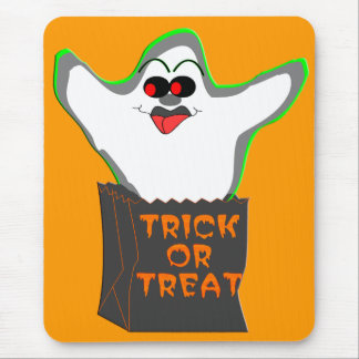Trick-or-Treat Ghost Mouse Pad