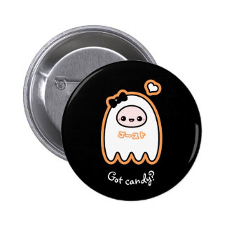 Trick or Treat Ghost Pinback Button