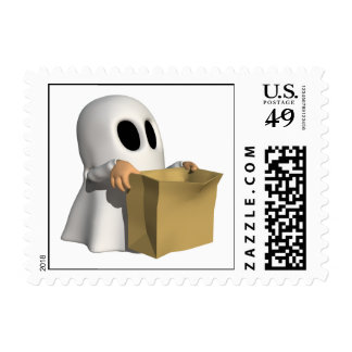 Trick Or Treat Ghost Postage