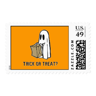 Trick or Treat Ghost Postage Stamp