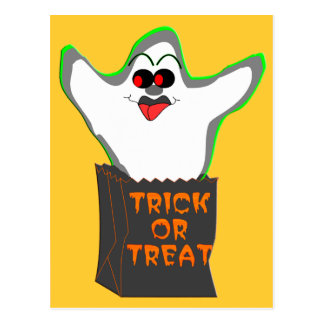 Trick-or-Treat Ghost Postcard