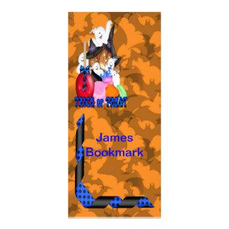 Trick or Treat Ghost Pumpkins Bookmark Rack Card Template