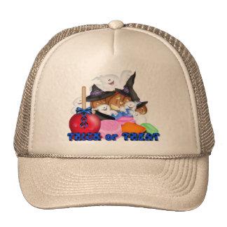 Trick or Treat Ghost & Pumpkins Hat