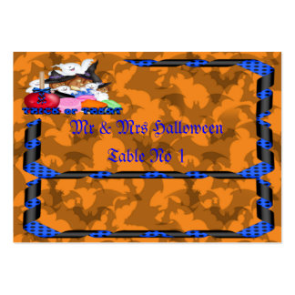 Trick or Treat Ghost & Pumpkins Placement Card Large Business Cards (Pack Of 100)
