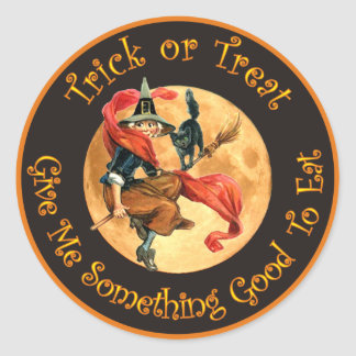 Trick or Treat - Give Me Something Good To Eat Round Sticker