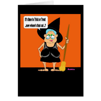 Trick or Treat Gladys Greeting Card