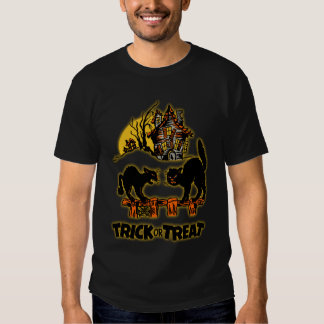 Trick or Treat Glowing Black Cats Shirt