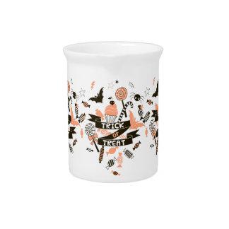 Trick or Treat Goodies Design Beverage Pitcher