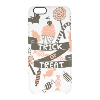 Trick or Treat Goodies Design Clear iPhone 6/6S Case