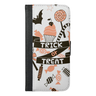 Trick or Treat Goodies Design iPhone 6/6s Plus Wallet Case