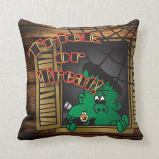 Trick or Treat Green Frankenstien Pillows