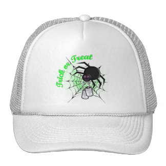 trick or treat (green) trucker hat