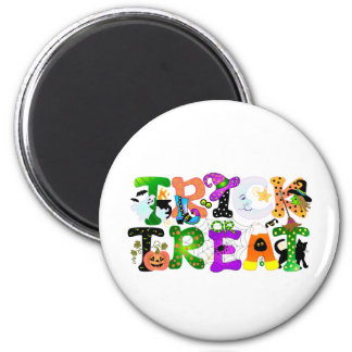 Trick or Treat Greeting Magnet