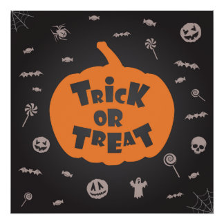Trick or Treat Hallowe Value Poster Paper