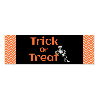Trick Or Treat Halloweeen Double-Sided Mini Business Cards (Pack Of 20)