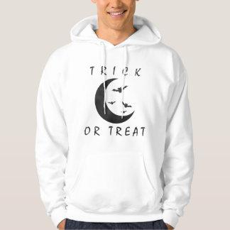 Trick Or Treat Halloween Bats Crescent Moon Hoodie